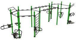 Bild von Outdoor Functional Training Station For Up To 20 Users Double-Hexagon  30-03880